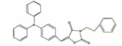 Structure of 2,4-Oxazolidinedione,5-[[4-(dipenylamino)phenyl]methlene-3-(2-phenylethyl)- CAS 506426-96-6