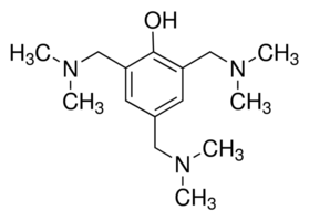 Structure of 2,4,6-Tris(dimethylaminomethyl)phenol CAS 90-72-2