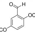 Structure of 2,5-Dimethoxybenzaldehyde CAS 93-02-7