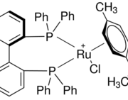 Structure of (R)-RuCl[(p-cymene)(BINAP)]Cl CAS 145926-28-9