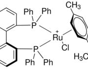 Structure of (S)-RuCl[(p-cymene(BINAP)Cl CAS 130004-33-0