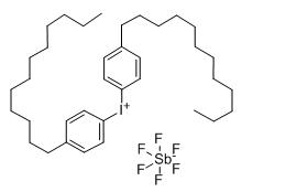 Structure of bis(4-Dodecylphenyl)iodonium hexaflurorantimonate CAS 71786-70-4