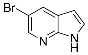 Structure of 5-Bromo-7-azaindole CAS 183208-35-7
