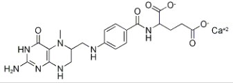Structure of 5-Methyltetrahydrofolate calcium(racemate) CAS 26560-38-3