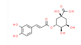 Structure of Chlorogenic acid CAS 327-97-9