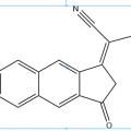 Structure of 2-(6,7-difluoro-3-oxo-2,3-dihydro-1H-cyclopenta[b]naphthalen-1-ylidene)malononitrile CAS OPVNA-0001