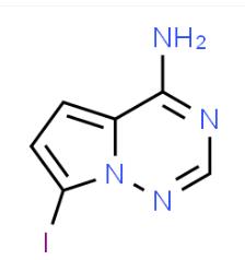 Structure of 4-amino-7-iodopyrrolo[2,1-f][1,2,4]triazine CAS 1770840-43-1