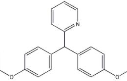 Structure of Bisacodyl CAS 603-50-9