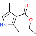 Structure of Ethyl 2,4-dimethyl-1H-pyrrole-3-carboxylate CAS 2199-51-1
