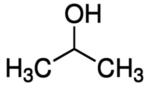Structure of Isopropyl alcohol CAS 67-63-0