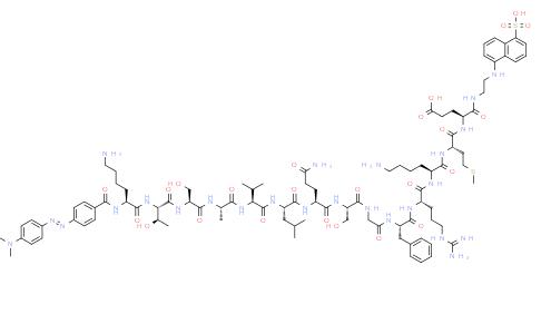 Structure of DABCYL-Lys-HCoV-SARS CAS 730985-86-1
