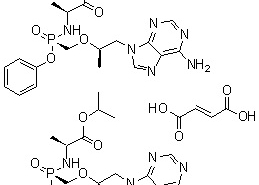 Structure of Tenofovir Alafenamide Fumarate CAS 1392275-56-7