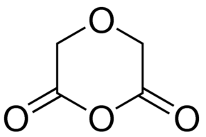 Structure of Diglycolic anhydride CAS 4480-83-5