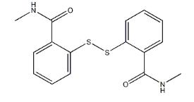 Structure of Dithio-2,2-bis (n-methylbenzamide) CAS 2527-58-4