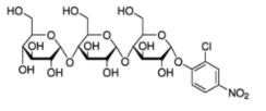 Structure of CNPG-3-2-Chloro-4-Nitrophenyl-α-D-Maltotrioside CAS 118291-90-0