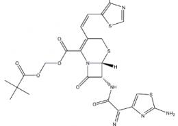 Structure of Cefditoren pivoxil CAS 117467-28-4