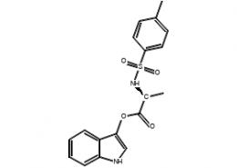 Structure of N-Tosyl-L-alanine 3-indoxyl ester CAS 75062-54-3