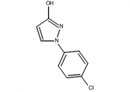 Structure of 1-(4-chlorophenyl)-1H-pyrazol-3-ol CAS 76205-19-1