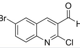 Structure of 2-Chloro-6-bromoquinoline-3-carboxaldehyde CAS 73568-35-1