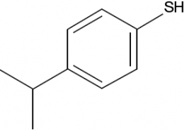 Structure of 4-Isopropylbenzenethiol CAS 4946-14-9