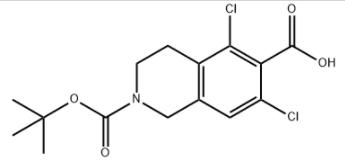 Structure of 5,7-Dichloro-3,4-dihydro-2,6(1H)-isoquinolinedicarboxylic acid 2-(1,1-dimethylethyl) ester CAS 851784-82-2