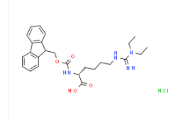 Structure of Fmoc-D-Homoarg(Et)2-OH·HCl CAS 2098497-24-4
