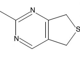 Structure of 5,7-Dihydro-2-methylthieno[3,4-d]pyrimidine CAS 36267-71-7