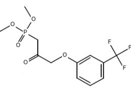Structure of Dimethyl[2-oxo-3-[3-(trifluoromethyl)phenoxy]propyl]phosphonate CAS 54094-19-8