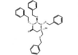 Structure of (2R,3S,4S,5S)-5-Hydroxy-2,3,4-tris(phenylmethoxy)-5-[(phenylmethoxy)methyl]-cyclohexanone CAS 115250-38-9