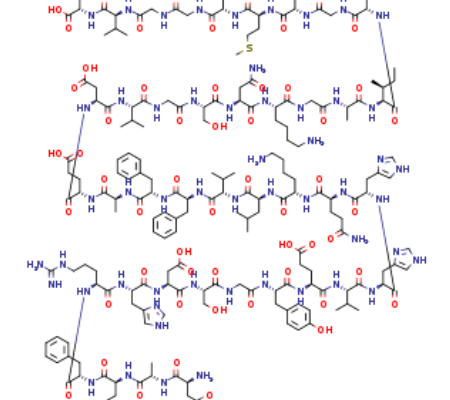 Structure of Beta-Amyloid(1-40), CAS 131438-79-4