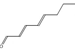 Structure of (E,E)-2,4-Octadien-1-al CAS 30361-28-5