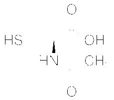 Structure of N-Acetyl-L-Cysteine CAS 616-91-1