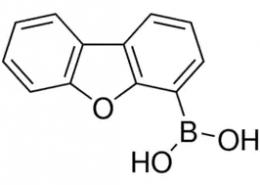 Structure of Dibenzofuran-4-boronic Acid CAS 100124-06-9