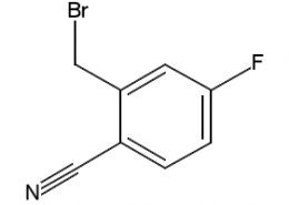 Structure of 2-(Bromomethyl)-4-fluorobenzonitrile CAS 421552-12-7