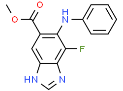 Structure of Methyl 7-fluoro-6-(phenylamino)-3H-benzo[d]imidazole-5-carboxylate CAS 606093-59-8