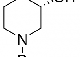 Structure of (S)-1-Boc-3-hydroxypiperidine CAS 143900-44-1